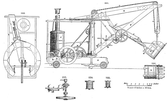 William Otis patented the first steam shovel in 1839.