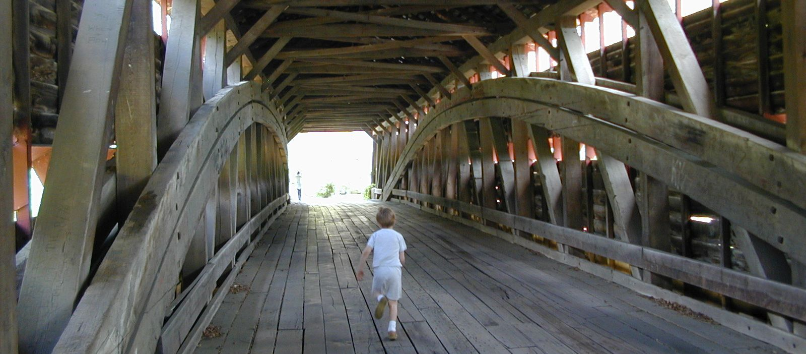 The Dreibelbis Station Bridge is a classic Burr arch truss covered bridge spanning Maiden Creek south of Lenhartsville, Pennsylvania.