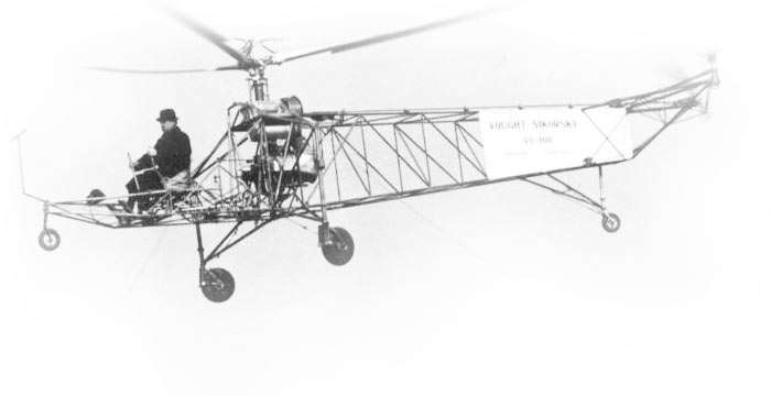 First practical US helicopter, pioneering the single-main-rotor concept