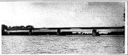 The original wooden Union Bridge
