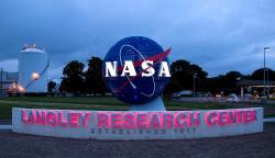 Entrance to NASA's Langley Research Center in Virginia, United States.