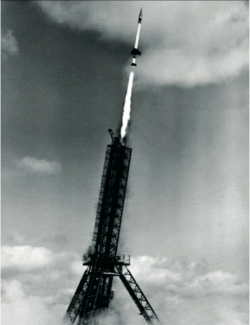 Launch of a Skylark sounding rocket from Woomera in South Australia