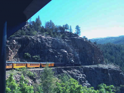 Durango and Silverton Narrow Gauge railway runs along the Highline.