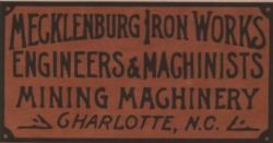 Manufacturer's identification plaque