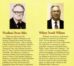 Williams-Miles History of Chemistry Collection