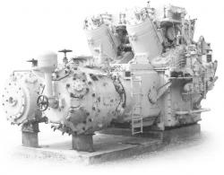 Cooper-Bessemer Type GMV Integral-Angle Gas Compressor