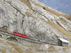 Pilatusbahn - the world's steepest cog railway