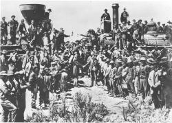 Joining of the Rails - Transcontinental Railroad